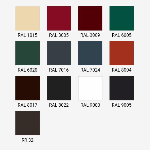 Варианты расцветки металлочерепицы Grand Line для покрытия Velur